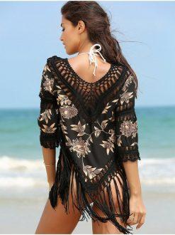 Bluza de plaja handmade Havana Neagra