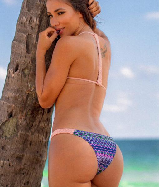 Costum de baie cu model aztec Pamela