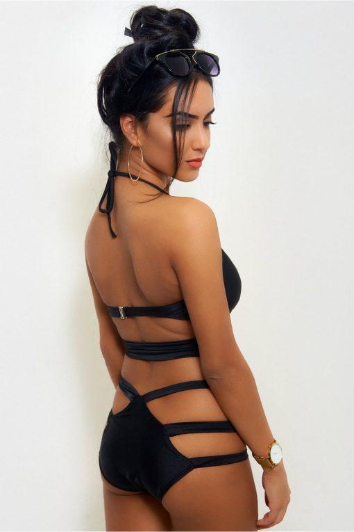 Costum de baie intreg cu benzi elastice laterale Pina Colada
