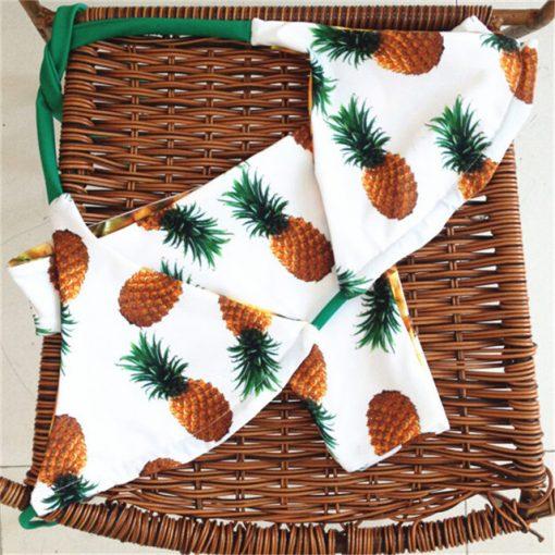 Costum de baie reversibil cu model fructe Pineapple