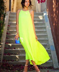 Rochita lunga verde neon