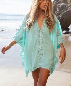Tunica pentru plaja Albastra Camelia