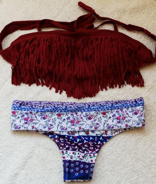 Costum de baie cu franjuri la sutien Fiona