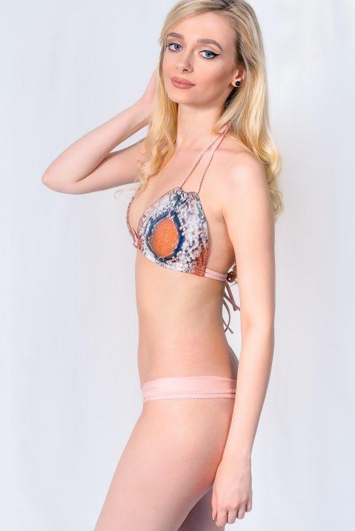 Costum de baie cu imprimeu sarpe si slip tanga Tabu