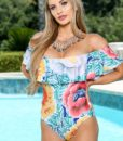 Costum de baie intreg cu volane Margarita