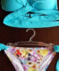 Costume de baie cu slip reglabil Miami Albastru