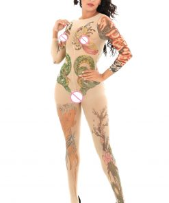 BodyStocking cu model tatuaj Tatoo