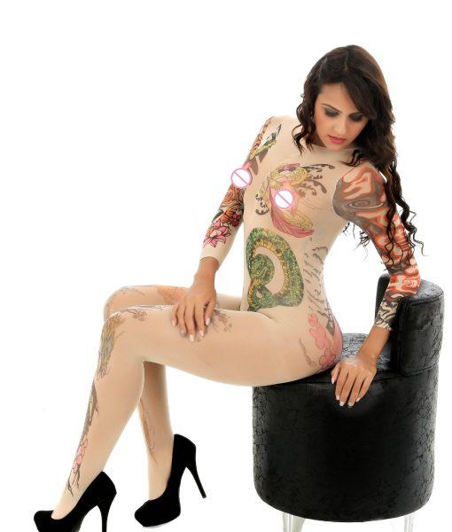 BodyStocking cu model tatuaj Tatoo