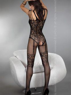 BodyStocking plasa cu model Rodos Negru