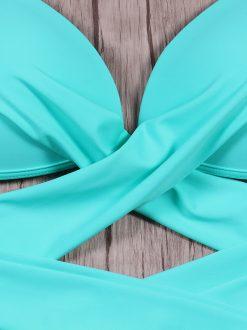Costum de baie cu slip reglabil Corfu Blue
