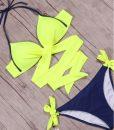 Costum de baie cu slip reglabil Vegas GalbenAlbastru (5)
