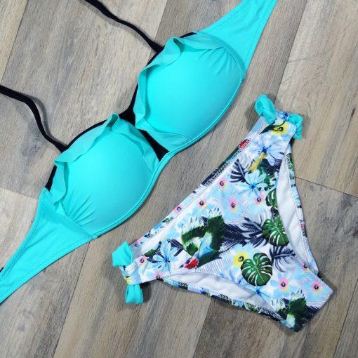 Costum de baie cu imprimeu Paris Albastru