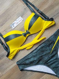 Costum de baie cu push-up Milano Galben