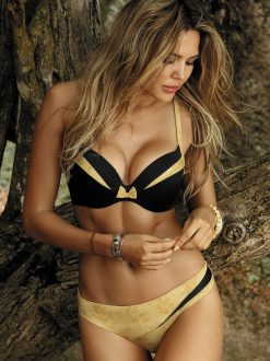 Costum de baie cu push-up NegruCrem