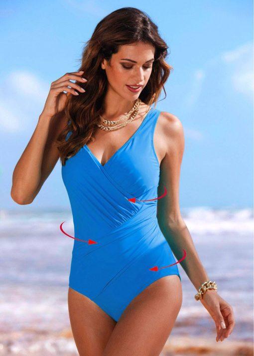 Costum de baie intreg modelator Manila Albastru