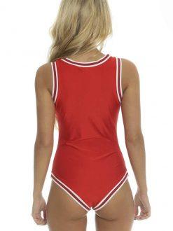 Costum de baie intreg rosu Bulls
