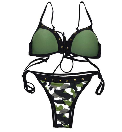 Costum de baie cu imprimeu Militar