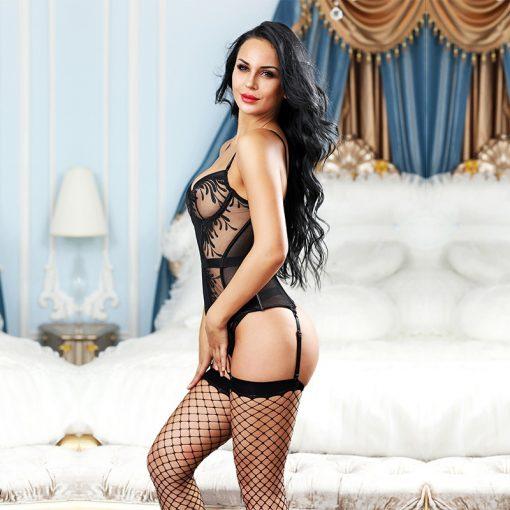 Set complet corset si ciorapi Natalia
