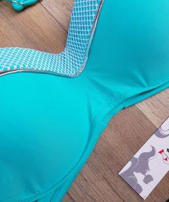 Costum de baie cu imprimeu exotic si push-up Bodrum