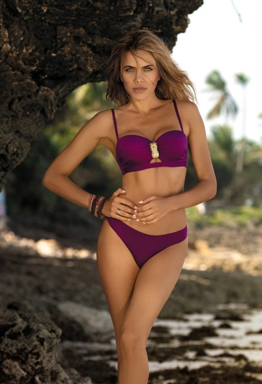 Costum de baie cu push-up Vogue Visiniu