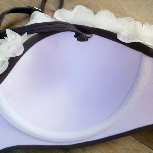 Costum de baie cu volane si slip reglabil Campari Gri