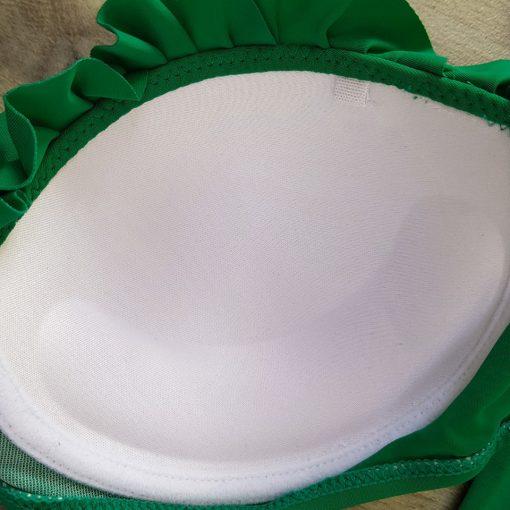 Costum de baie cu push-up si clip brazilian Delilah Verde