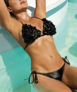 Costum de baie cu push-up si slip brazilian Madonna Negru