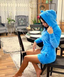 Salopeta pijama pufoasa Carola Blue