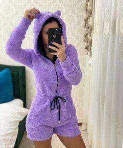 Salopeta pijama pufoasa Carola Mov