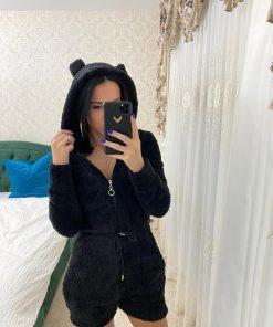 Salopeta pijama pufoasa Carola Black