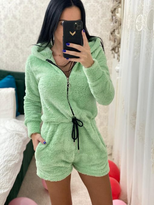 Salopeta pijama pufoasa Carola Verde