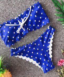Costum de baie cu buline Sandy Albastru