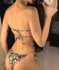 Costum de baie cu slip brazilian Palm Beach Animal Print
