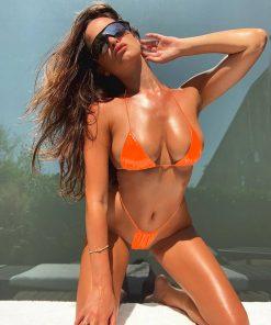 Costum de baie cu slip brazilian Roxete Orange