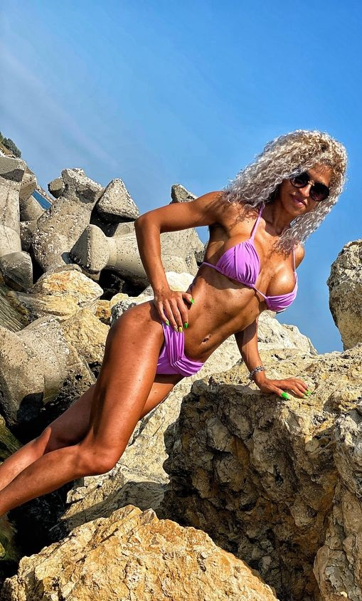 Costum de baie cu slip brazilian Skiathos Purple