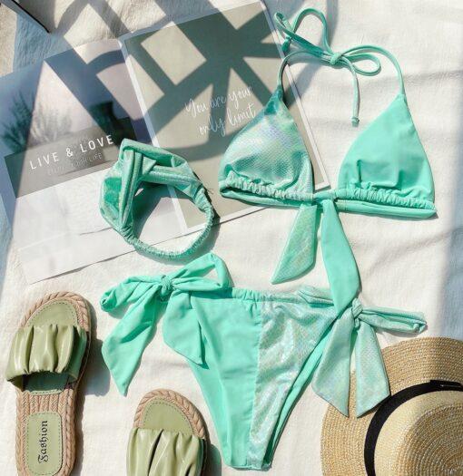 Costume de baie cu slip brazilian 3 piese Monte Carlo